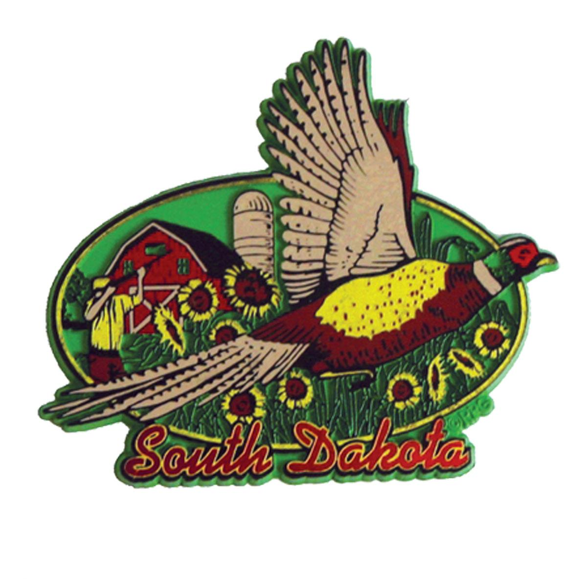 SOUTH DAKOTA FLYING PHEASANT MAGNET