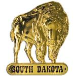 SOUTH DAKOTA GOLD BUFFALO MAGNET