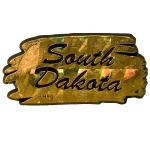 SOUTH DAKOTA GOLD/SILVER MAGNET