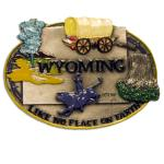 WYOMING PAINTED PEWTER MAGNET