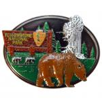 YELLOWSTONE PAINTED PEWTER MAGNET