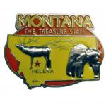MONTANA PAINTED PEWTER MAGNET
