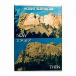 "MOUNT RUSHMORE THEN/NOW 2.5"" X 3.5"" MAGNET"