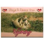 "WYOMING HUGS AND KISSES 2.5"" X 3.5"" MAGNET"