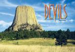 "DEVILS TOWER FLAME WRITING 2.5"" X 3.5"" MAGNET"