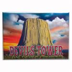"DEVILS TOWER SUNSET 2.5"" X 3.5"" MAGNET"