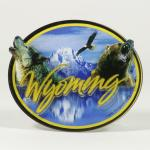 WYOMING WOLF/BEAR 3-D ACRYLIC MAGNET