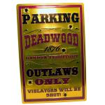 "DEADWOOD TIN SIGN 18""x12"""
