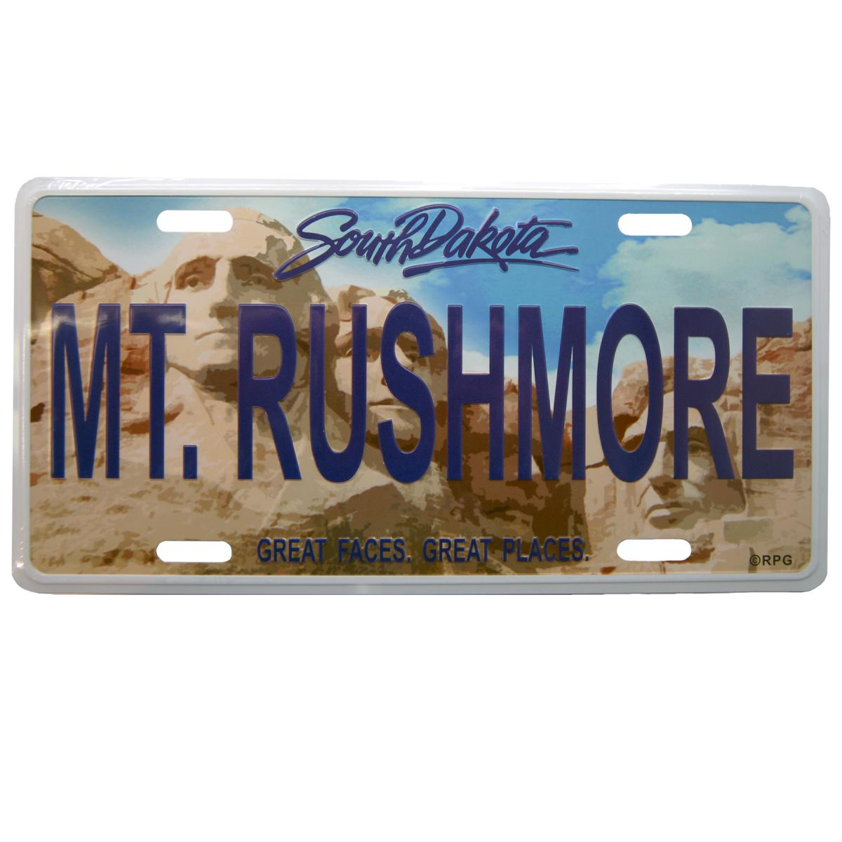 MOUNT RUSHMORE LICENSE PLATE