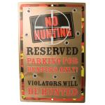 "NO HUNTING TIN SIGN 18""x12"""