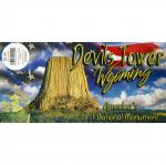 "DEVILS TOWER 3""X5"" BUMPER STICKER"