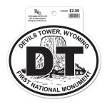 DEVILS TOWER BLACK AND WHITE STICKER