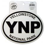 YELLOWSTONE BLACK AND WHITE STICKER