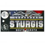 "STURGIS, SD 3""X5"" BUMPER STICKER"