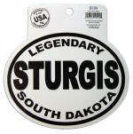 STURGIS, SD BLACK AND WHITE STICKER