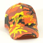 WYOMING ORANGE CAMO HAT
