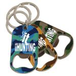 CAMO BOTTLE OPENER KEYCHAIN