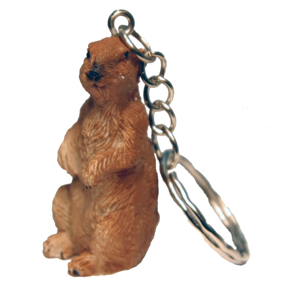 PRAIRIE DOG POLY KEYCHAIN