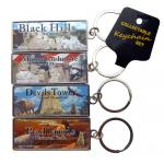 COLLECTABLE 4-PACK FOIL KEYCHAIN SET
