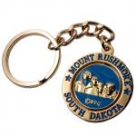 MOUNT RUSHMORE GOLD SPINNER KEYCHAIN