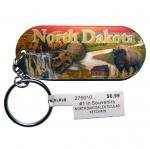 NORTH DAKOTA LENTICULAR KEYCHAIN