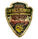 DEVILS TOWER ARROWHEAD WALKING STICK EMBLEM