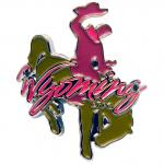 WYOMING BUCKING BRONC WALKING STICK EMBLEM