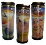 BADLANDS LENTICULAR STAINLESS STEEL THERMAL MUG