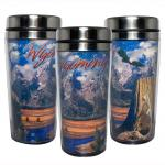 WYOMING GLITTER STAINLESS STEEL THERMAL MUG