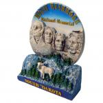 MOUNT RUSHMORE POLY PLATE WITH STAND