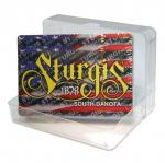 STURGIS, SD ACRYLIC BOX PLAYING CARDS
