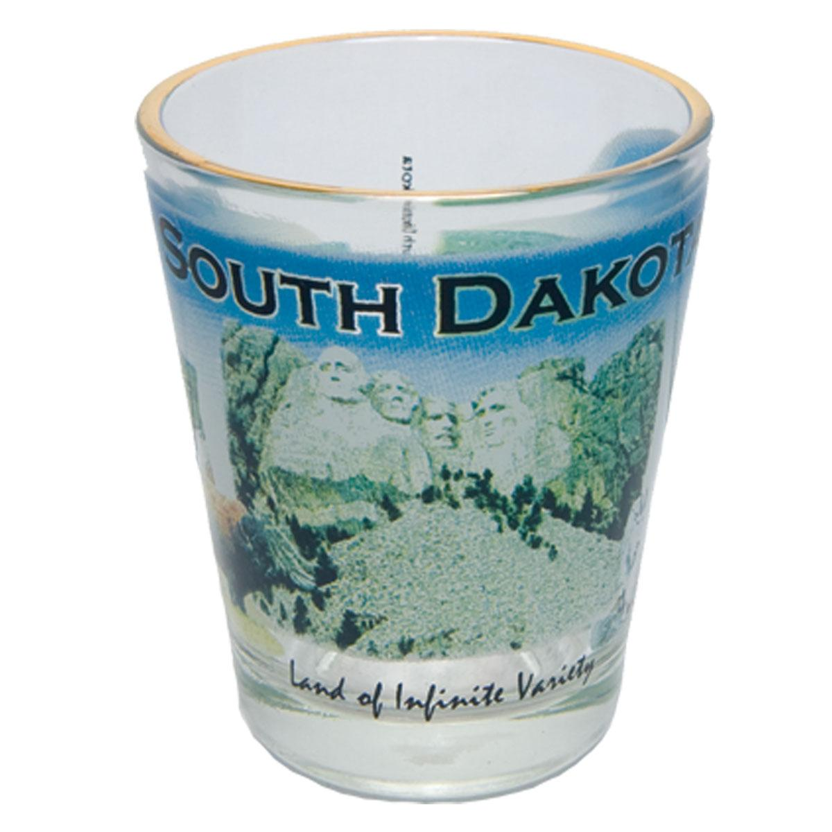 SOUTH DAKOTA 4-COLOR PHOTO SHOT WITH GOLD RIM