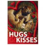 PRAIRIE DOGS HUGS AND KISSES POSTCARD