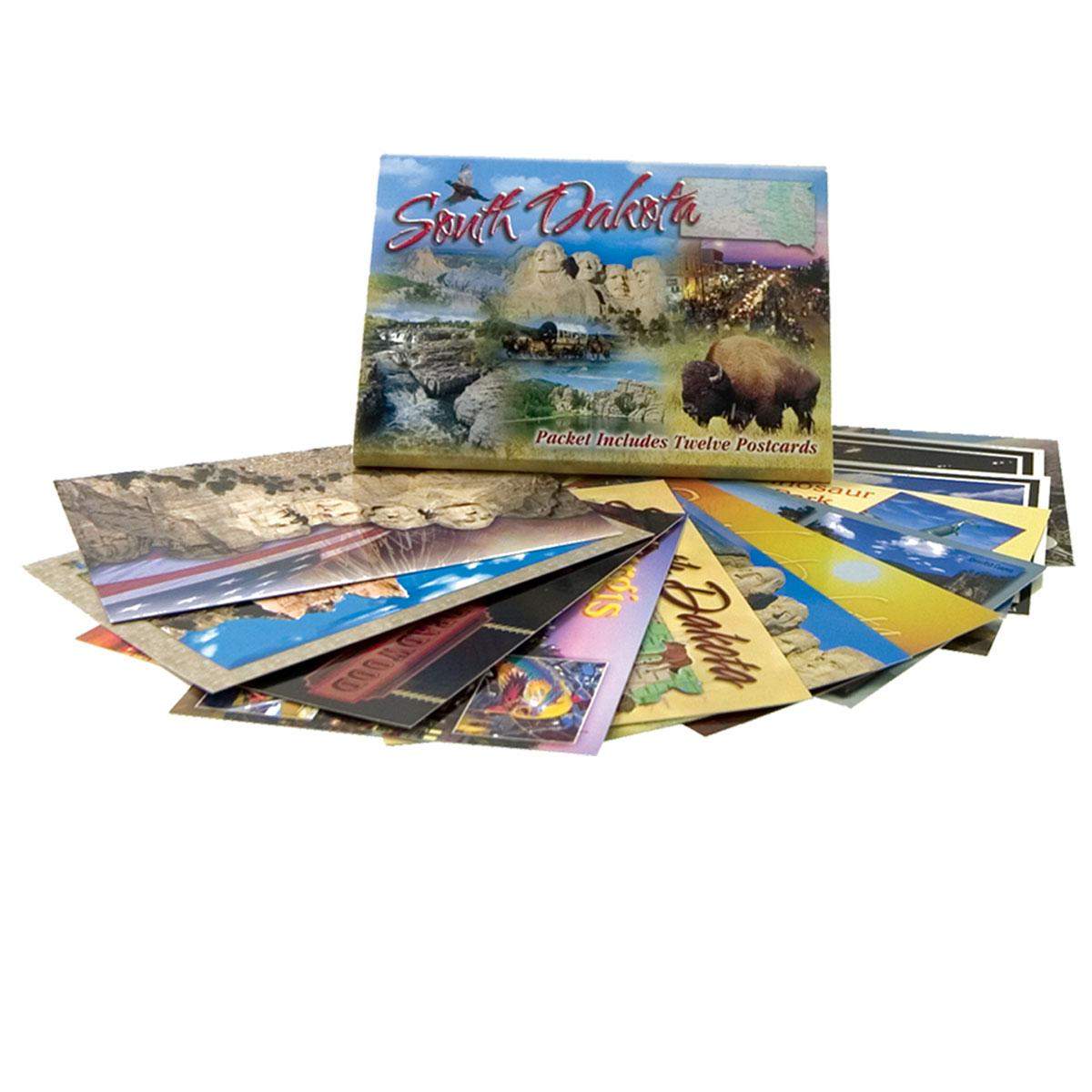 SOUTH DAKOTA POSTCARD PACKET (12 CARDS)