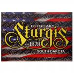 STURGIS, SD RED/WHITE/BLUE POSTCARD