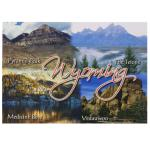 WYOMING 4-VIEW POSTCARD