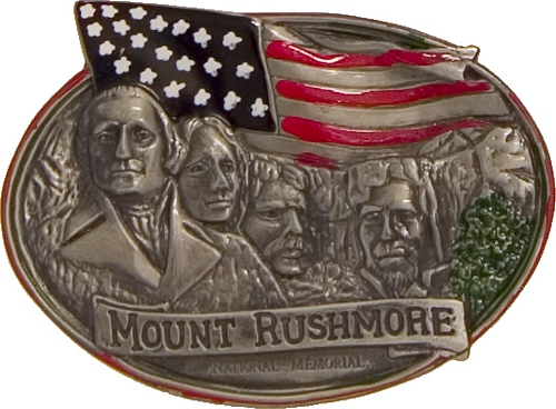 MOUNT RUSHMORE PAINTED PEWTER MAGNET