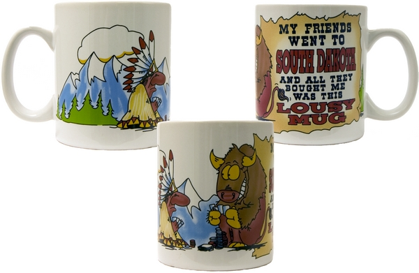 SOUTH DAKOTA LOUSY MUG