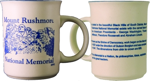 MOUNT RUSHMORE BLUE DIRECT PRINT HISTORY MUG
