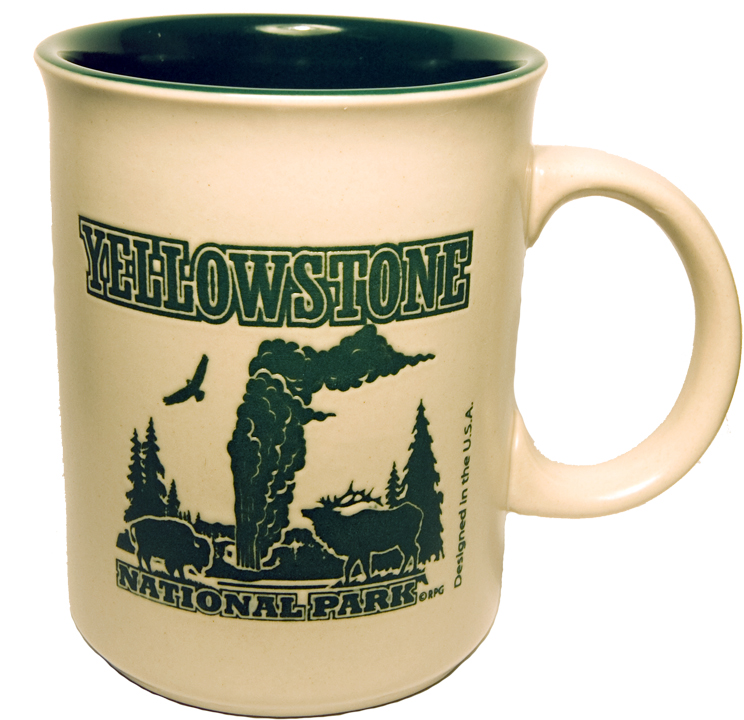 YELLOWSTONE GREEN DIRECT PRINT HISTORY MUG