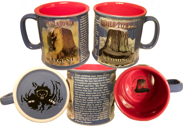 DEVILS TOWER PUFF MUG