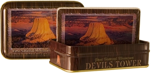 DEVILS TOWER METAL BOX PLAYING CARDS