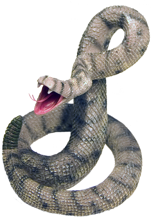 LARGE SNAKE POLY STATUE