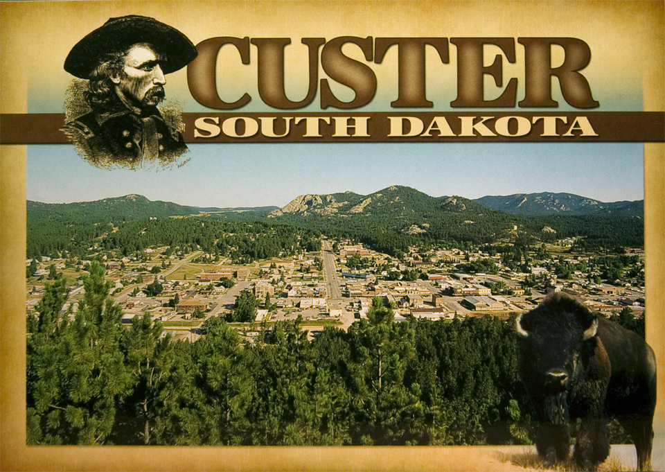 CUSTER, SOUTH DAKOTA OVERLOOK POSTCARD
