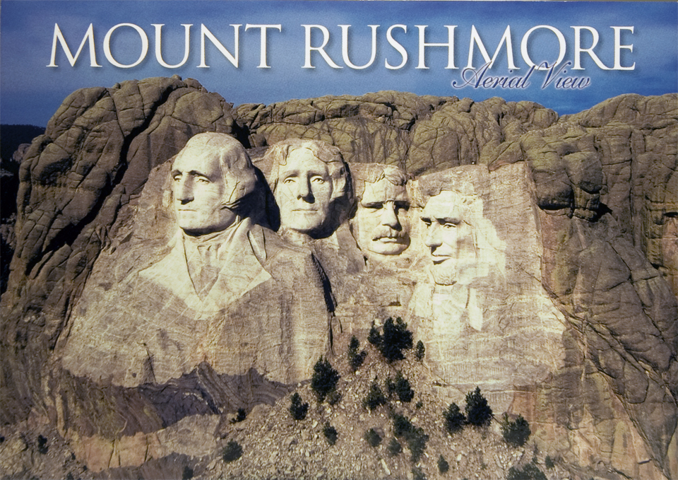 MOUNT RUSHMORE AERIAL VIEW POSTCARD