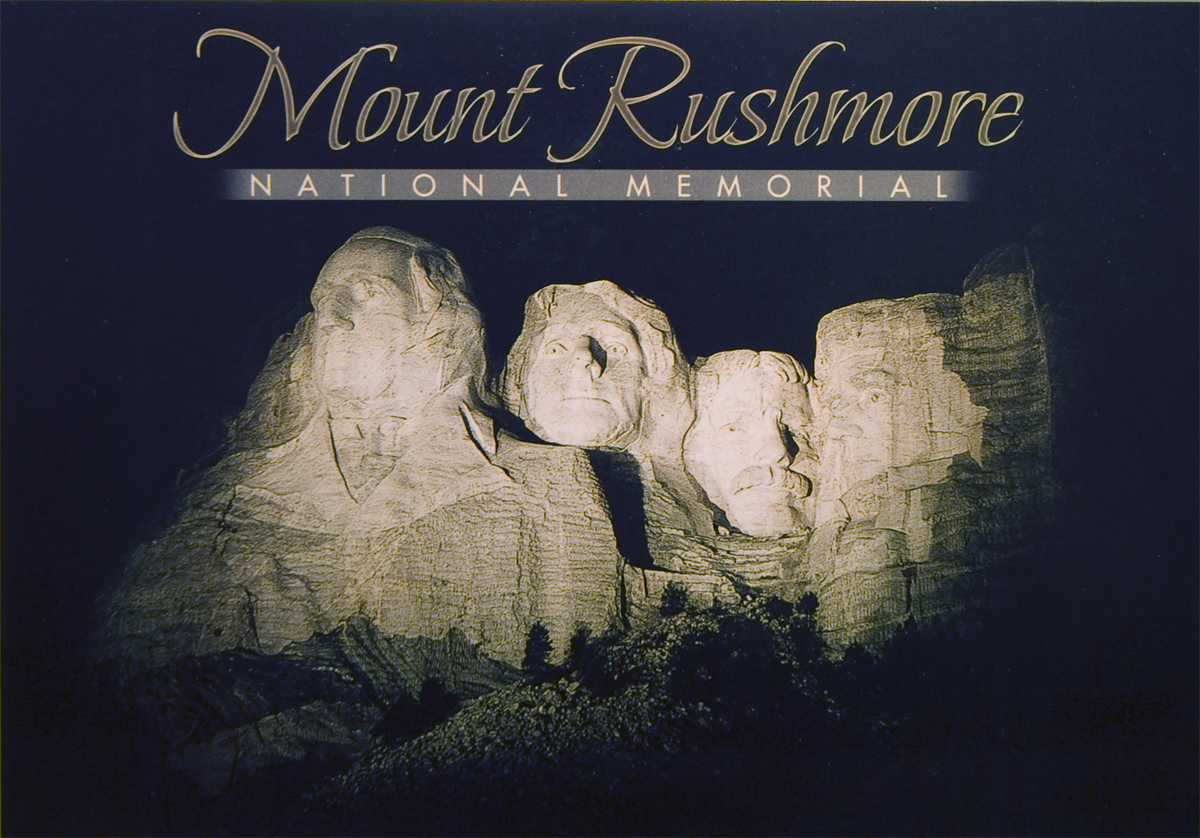 MOUNT RUSHMORE NIGHT POSTCARD
