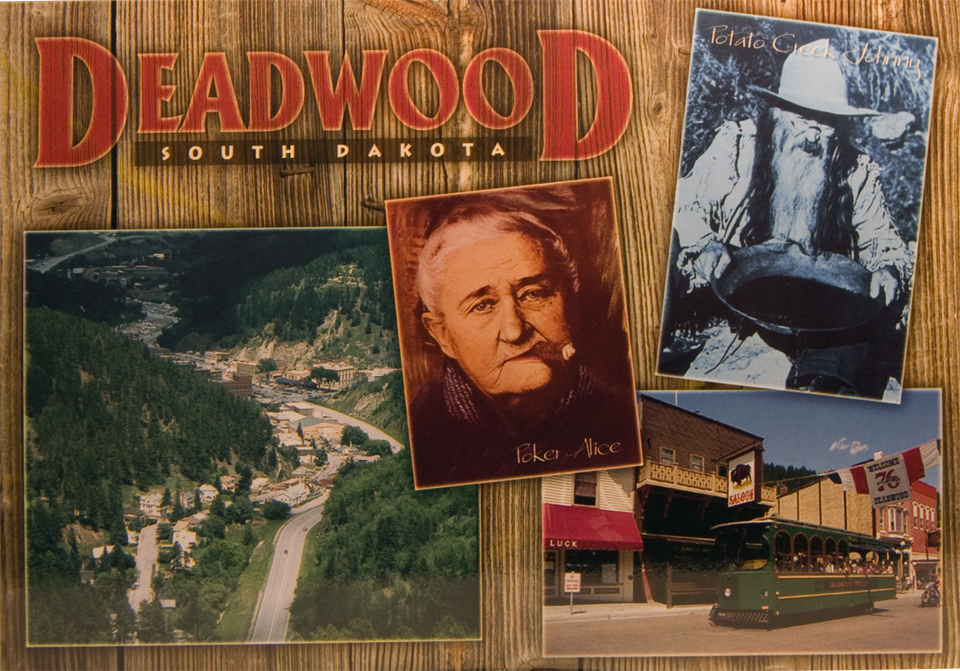 DEADWOOD 4-VIEW POSTCARD