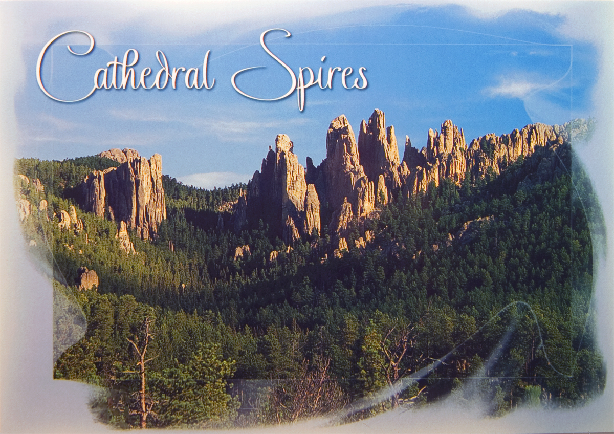 CATHEDRAL SPIRES POSTCARD