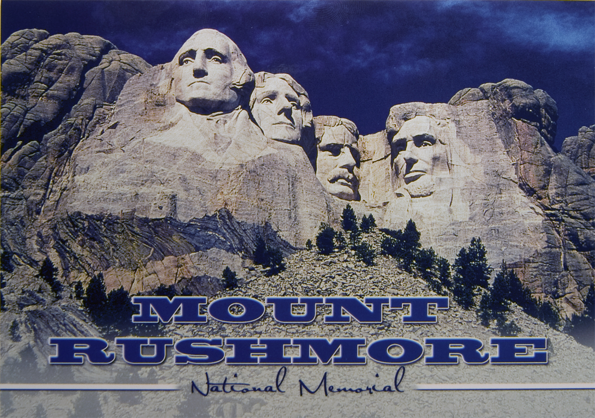 MOUNT RUSHMORE DARK BLUE SKY POSTCARD