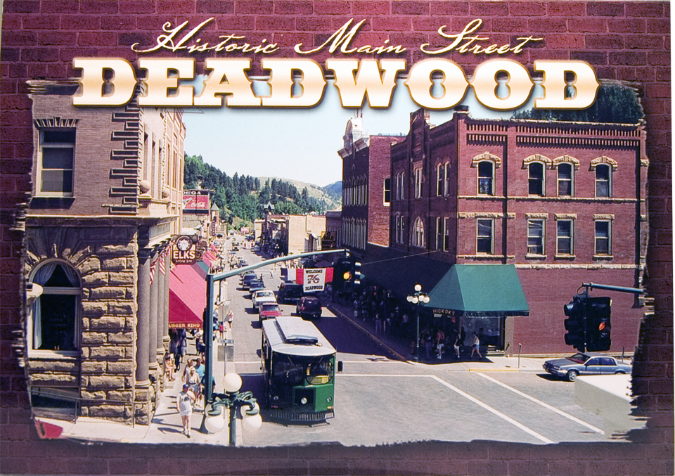 DEADWOOD MAIN STREET POSTCARD